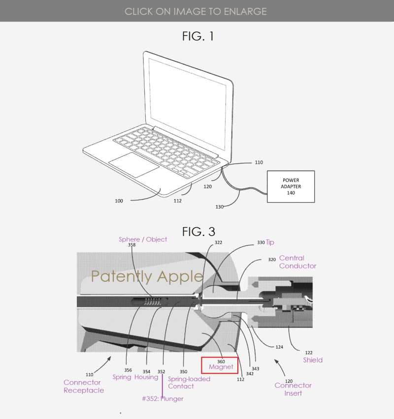 2 An Alternative to magsafe figs 1 and 3  Patently Apple IP Report Apr 4  2019