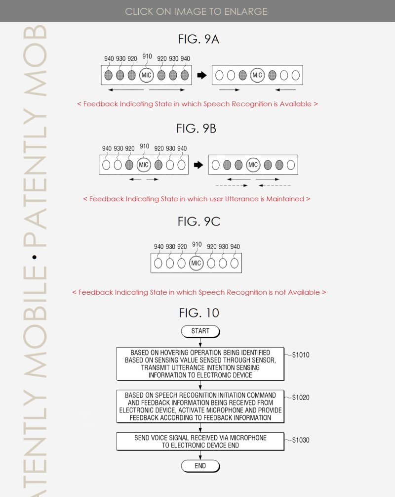 3 Samsung TV Remote Patent Application FIGS. 9A B C & 10  Patently Mobile IP Report April 5  2019