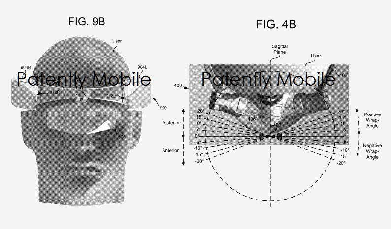 4 Google patent figs 4b and 9b HMD  Part of Patently Apple IP report April 8  2019
