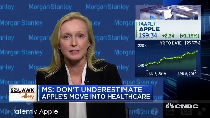 1 X Cover Morgan Stanley's  Katy Huberty on Apple in Health Care Services - Patently Apple report