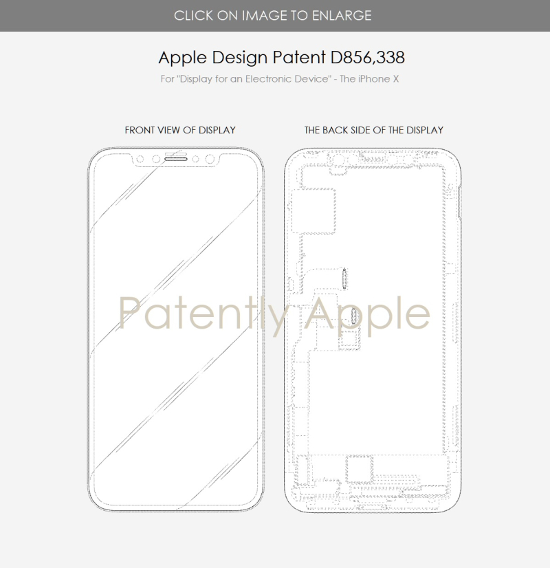 4 x Design Patent for the iPhone X display  Patently Apple IP report Aug 13  2019