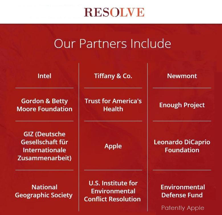 2 RESOLVE  Apple  1 of several major partners