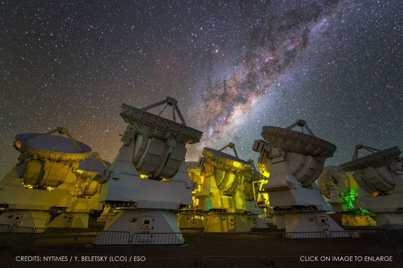 2 x MASSIVE PHOTO OF THE ATACAMA LARGE MILLIMETER ARRAY IN CHILE