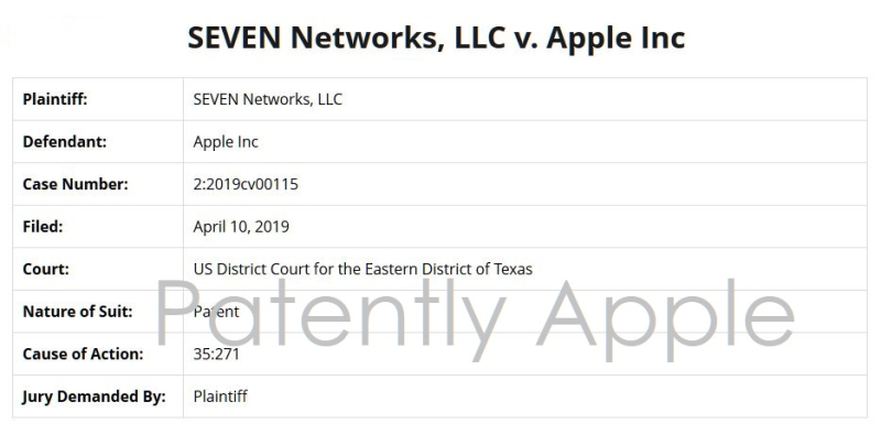 4 overview of Seven Networks suing Apple April 11  2019