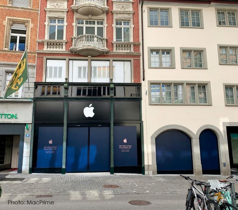 2 XApple store Zurich opening Aug  31st