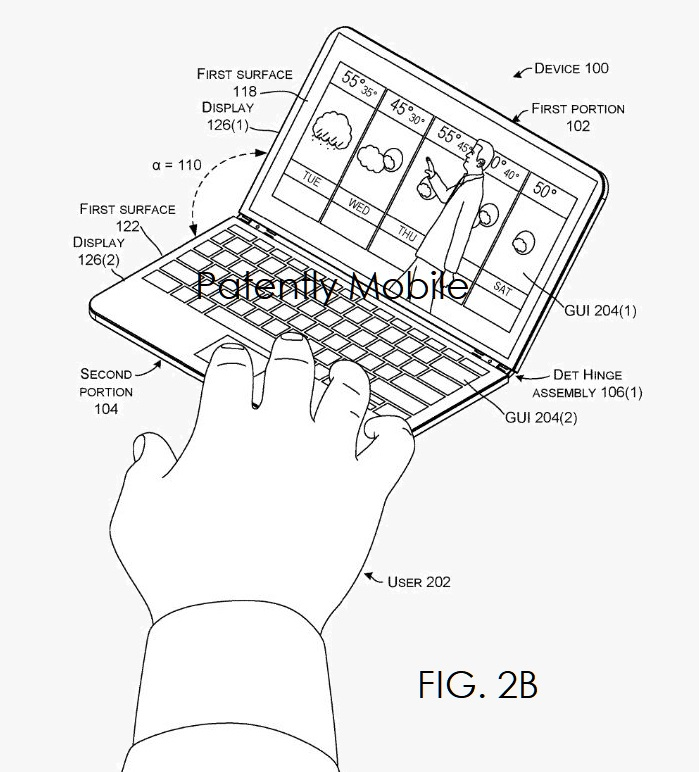 5 X Microsoft Hinged Device granted patent  Patently Mobile IP report Apr 12  2019