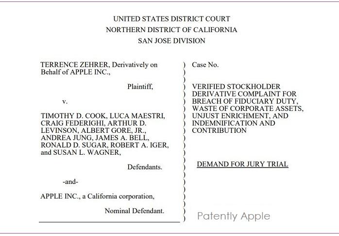 Nevada Shareholder Sues Apple for Breach of Fiduciary Duty