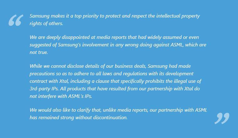 4 samsung's response