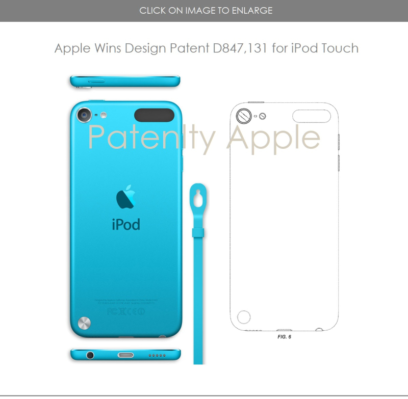 5. Apple Design patent for iPod Touch  Patently Apple IP report Apr 30  2019