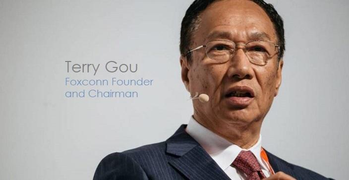 1 X cover Foxconn founder  CEO Terry Gou
