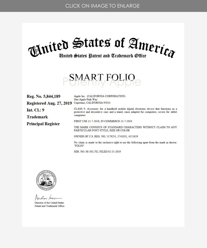 3 x Smart Folio - REGISTERED TRADEMARK USA 5 844 189
