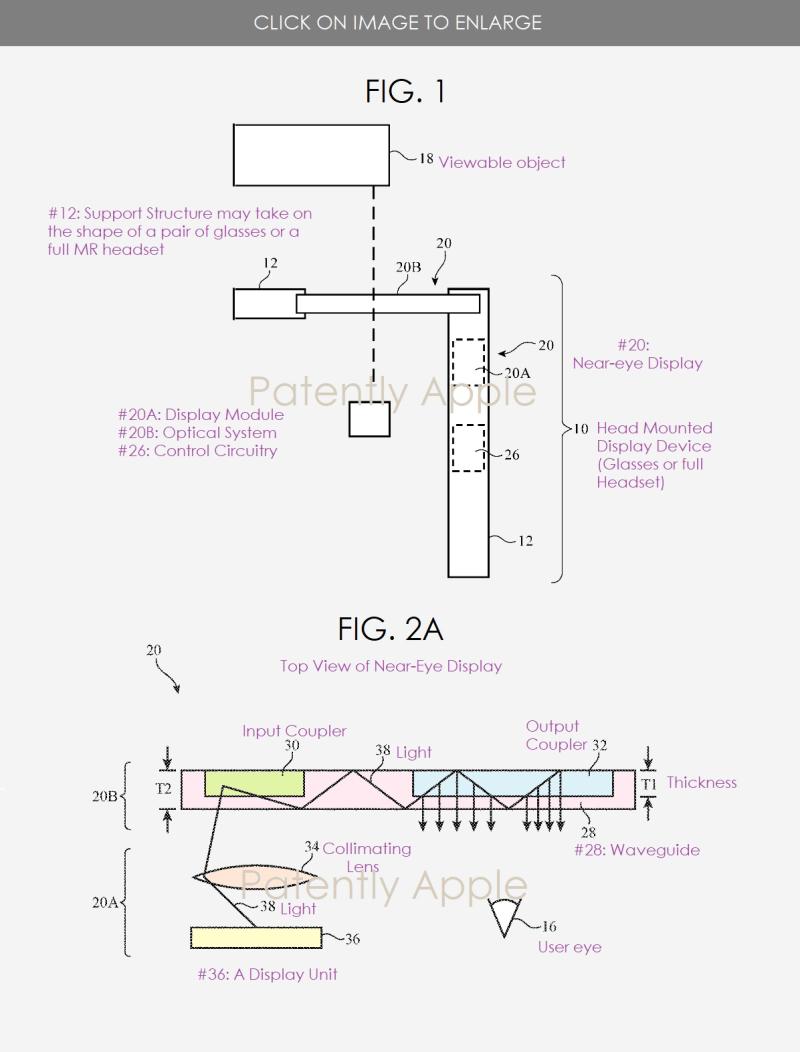 2 smartglasses or HMD near-eye display patent