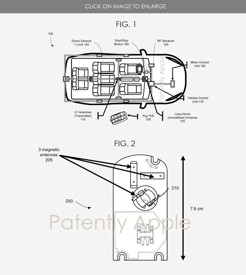 2 x Apple car patent  figs 1&2