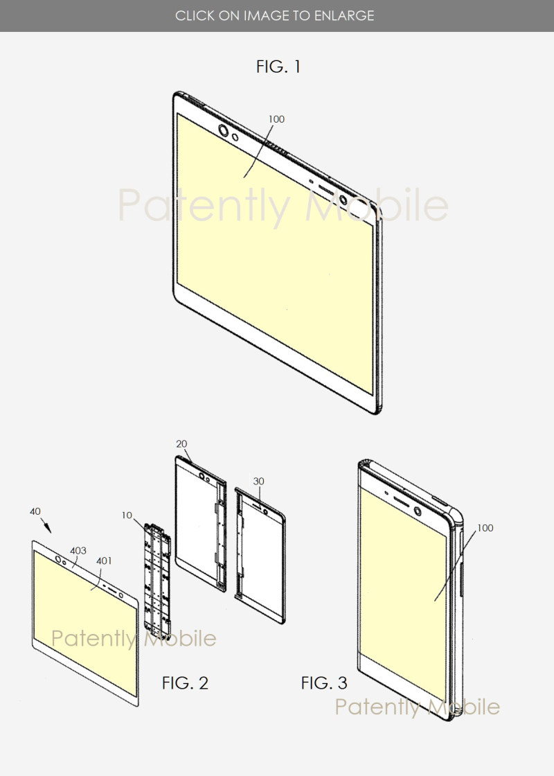 3 Oppo foldable smartphone patent focused on the hinge figs 1  2 & 3