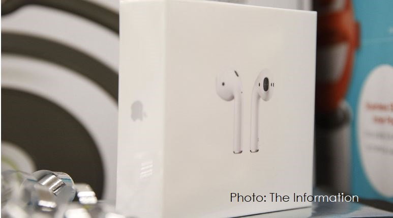 1 Cover AirPods shown  not AirPods Pro  The Information graphic presented