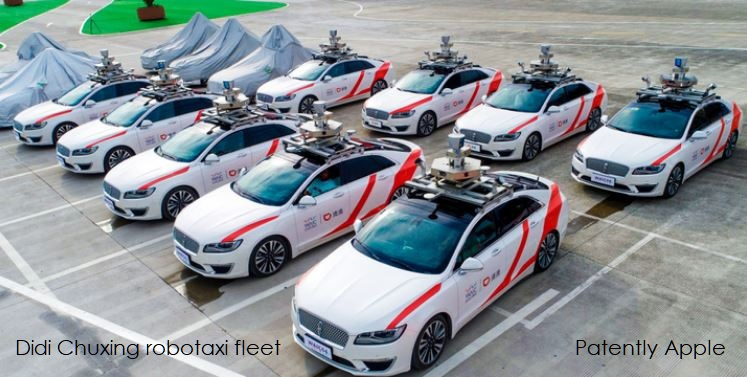1 X Cover Didi Chuxing robotaxi fleet