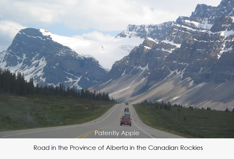 1 Cover Apple Mapping all Canadian Provinces. Photo of road in Alberta  Canadian Rockies