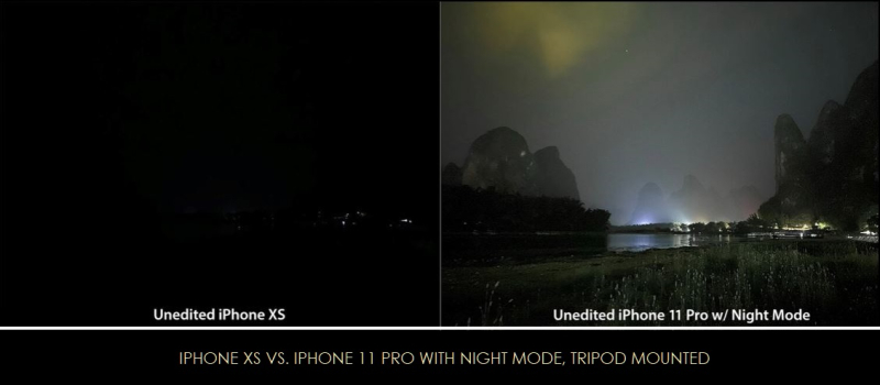 4 xFINAL night mode  stunning contrast with iphone 11 pro vs iphone xs