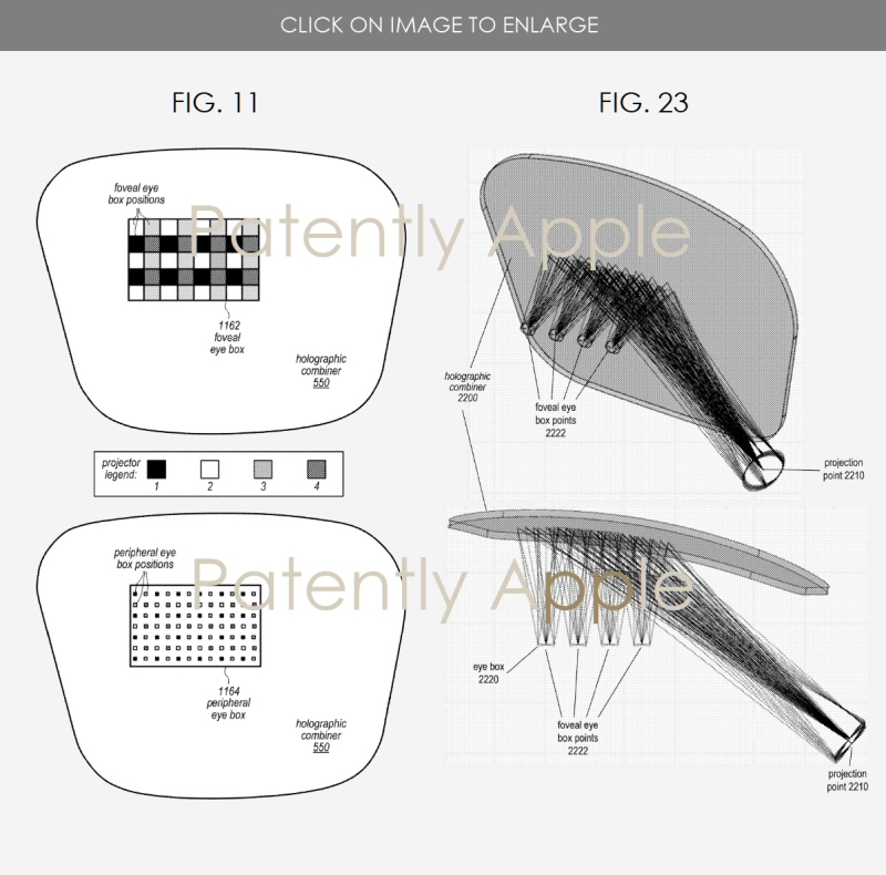 7 Apple AR headset display system figs 11 & 23