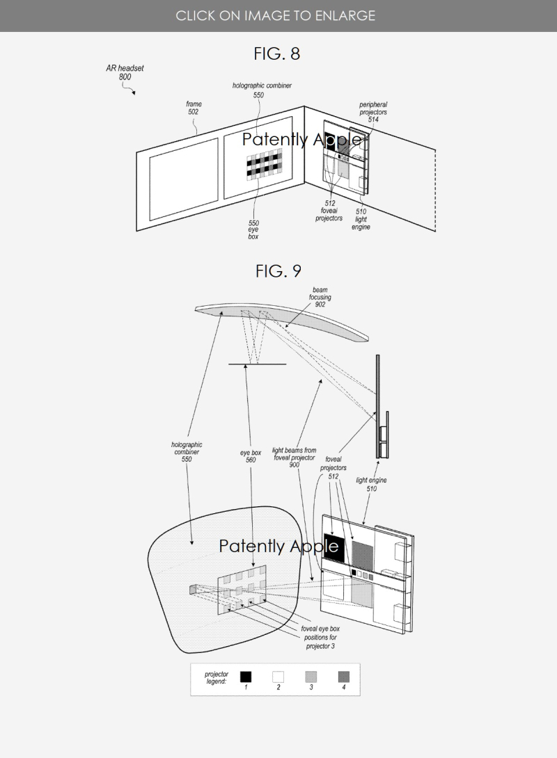 5 Apple AR headset display system figs 8 & 9
