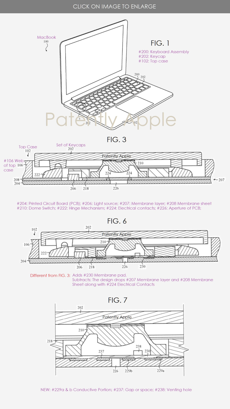 2 Macbook patent for thinnner design