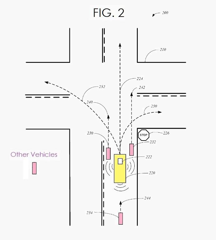 4 Apple patent fig. 2 autonomous vehicle communicating externally