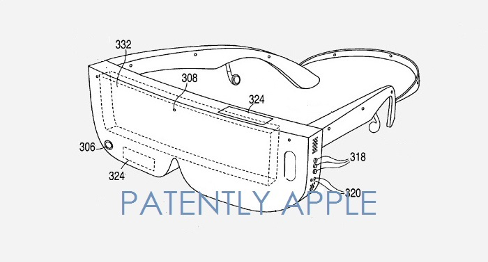 3 one styled headset is an iPhone inside a glasses structure