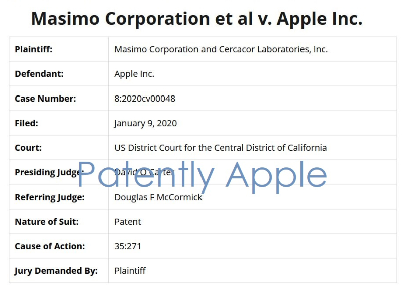 2 x  Masimo Corporation v Apple
