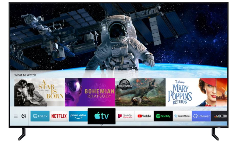 3 Samsung smart TV with Apple TV supported