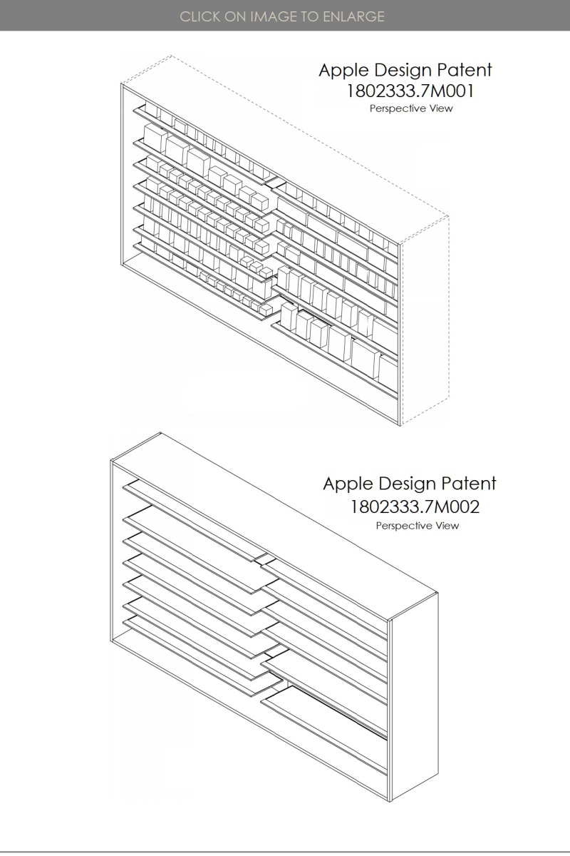 2 X APPLE DESIGN PATENTS  HONG KONG  FOR APPLE STORE SHELVING UNITS   PATENTLY APPLE IP REPORT JUNE 15  2019