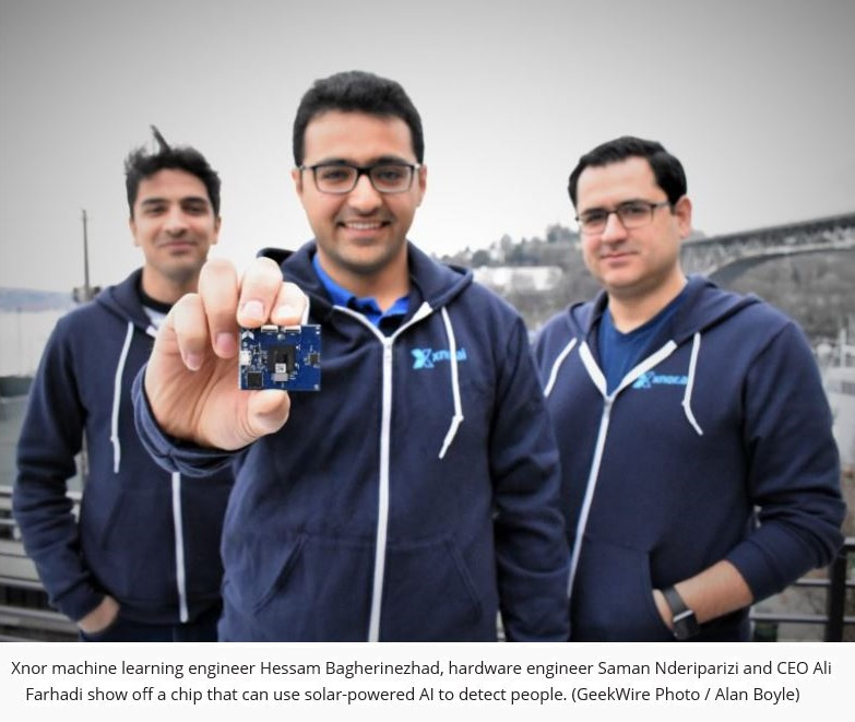 2 z Xnor CEO Ali Farhadi and 2 engineers