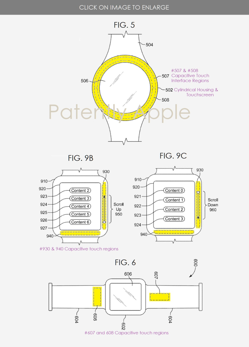 3 Apple Granted patent for capacitive touch gestures