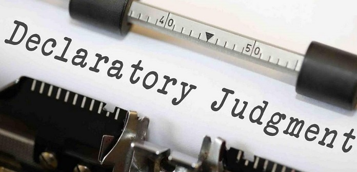 1 Cover Declaratory Judgement