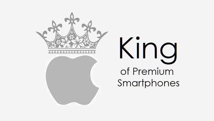 1 x Apple king of premium smartphones