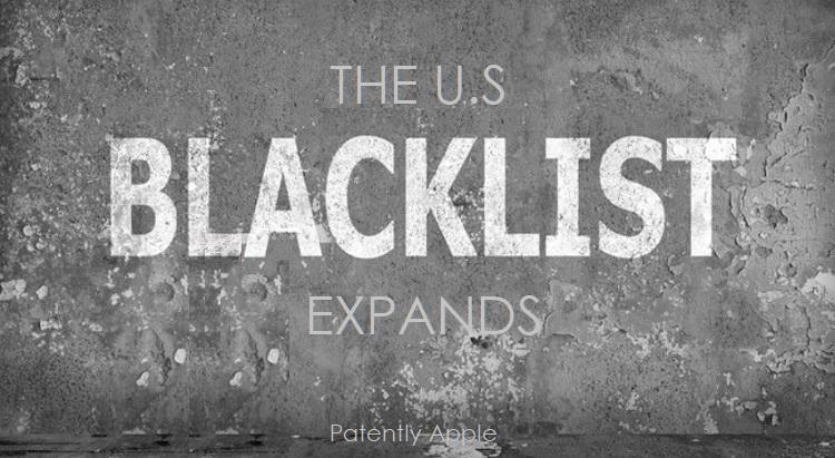 1 X US Blacklist Expands