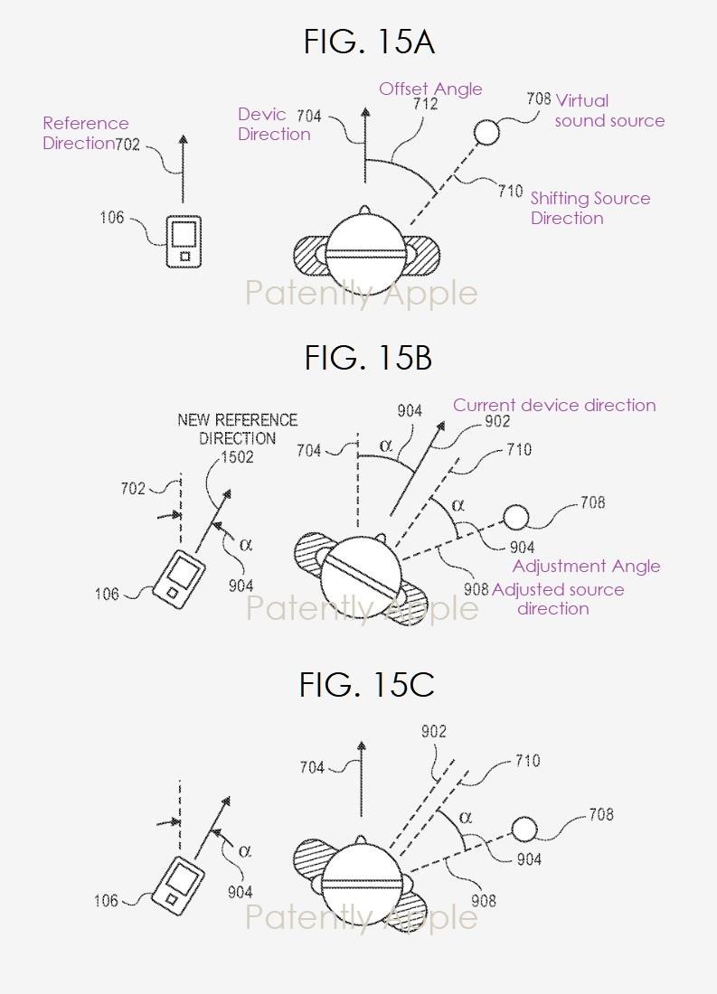 3 x Apple binaural headphones patent figs 15abc - Patently Apple IP Report