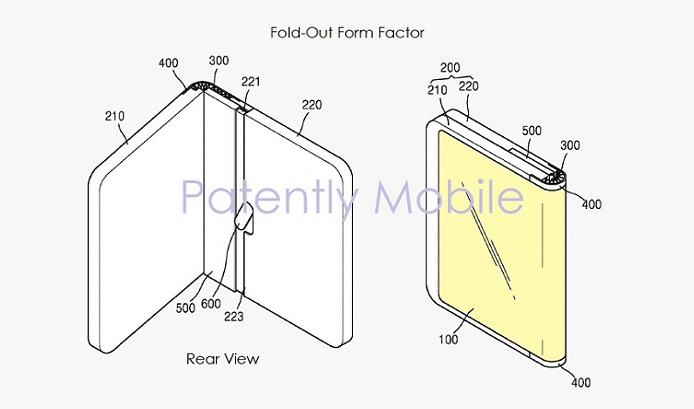 1 X  Cover - Samsung wins patent for fold-out foldable smartphone