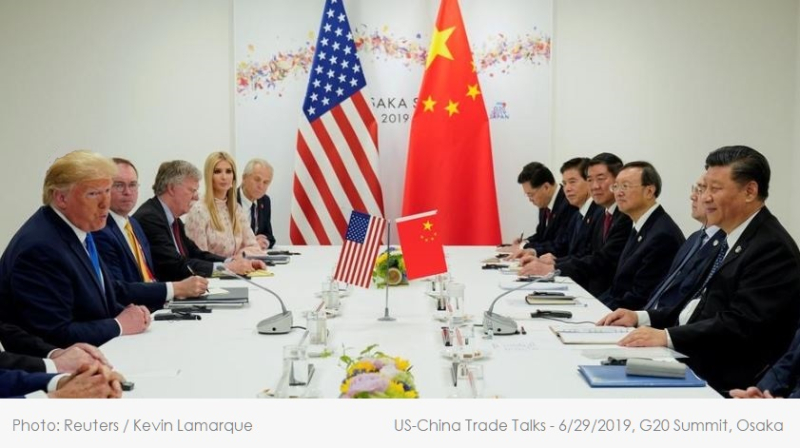 1 x Cover US-China trade talks