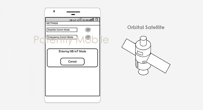 1 X Cover - Google patent for satellite Android phones