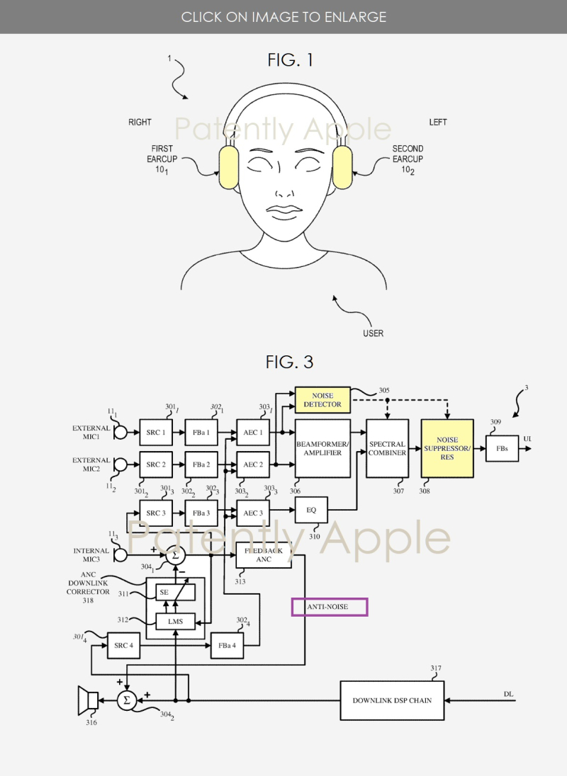 2 Apple over-ear headphones with wind and noise cancellation