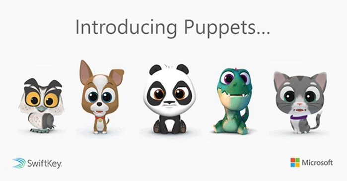 1 X Cover Msft Puppets feature for SwifKey