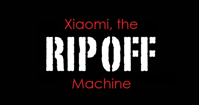1 X cover Xiaomi - the Rip Off Machine