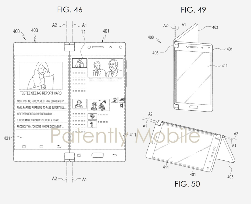3x  samsung folding device patent figures