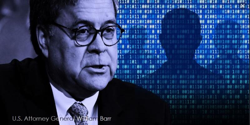 1 x cover William Barr Attorney General