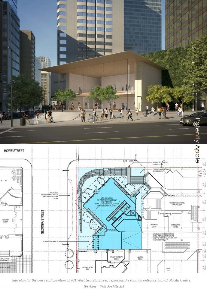 2 x APPLE STORE RENDERING  VANCOUVER BC CANADA
