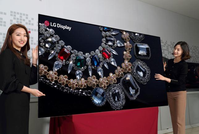 1 LG LARGE OLED DISPLAYS FOR TV