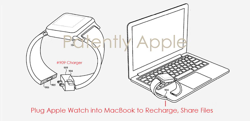 3 apple watch band connected to a MacBook for recharging