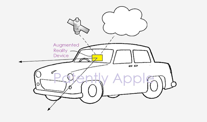 1 cover Apple patent AR Maps and Related Device for cars