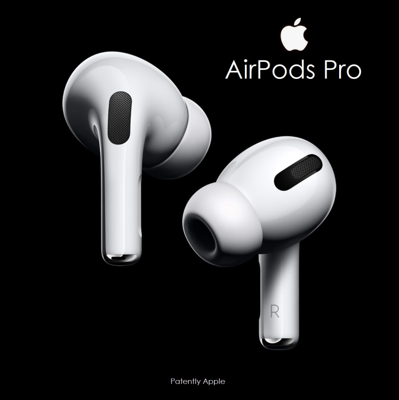 2 large black and white AirPods Pro