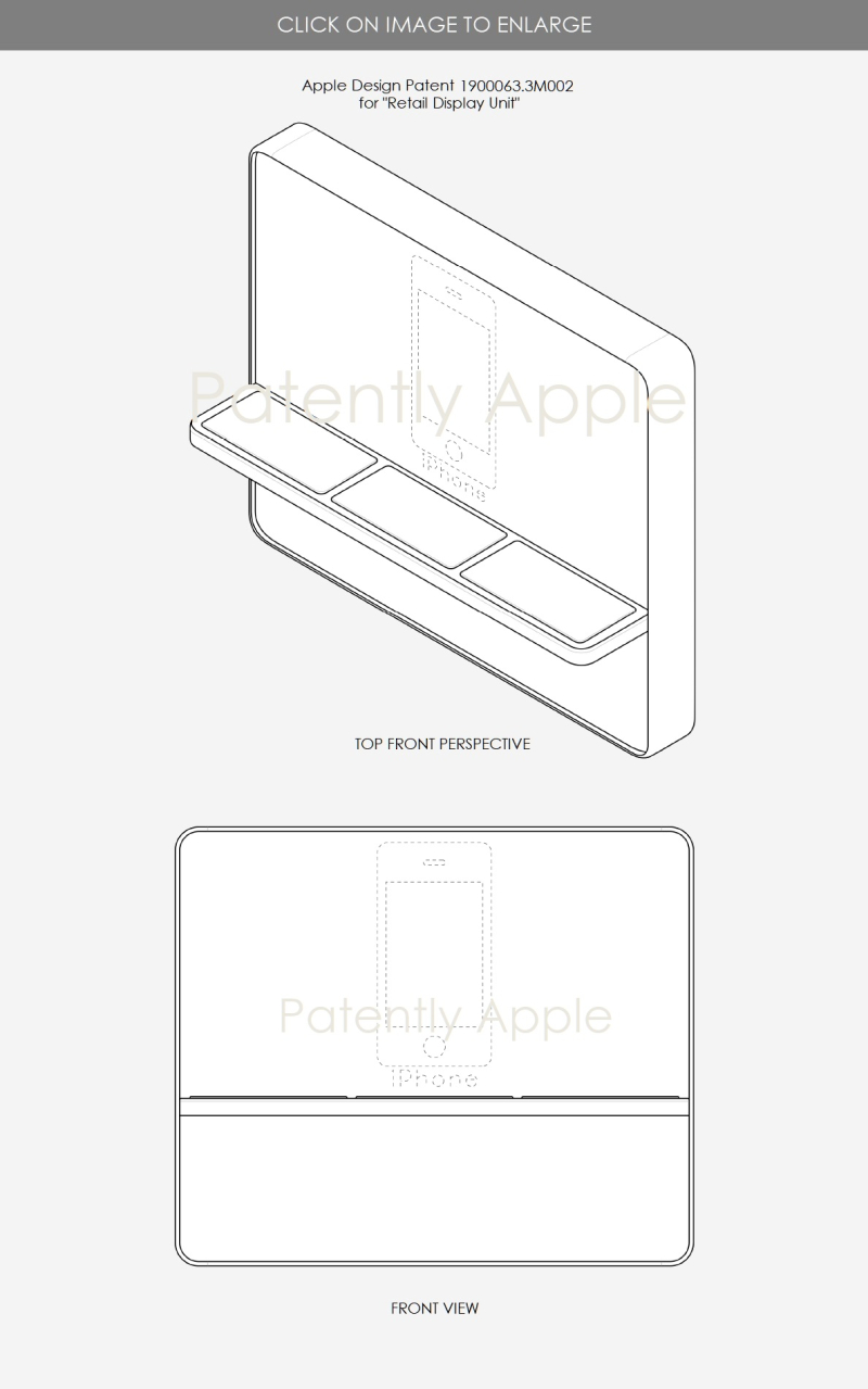 2 Apple design patent series 2  .3M001 Retail Display Units - Patently Apple IP Report Aug 3  2019